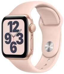 Apple Watch SE 40 mm zlatý hliník s pieskovo ružovým športovým remienkom