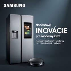 Robotický vysávač k chladničke Samsung