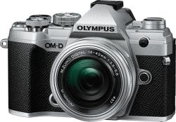 Olympus E-M5 Mark III Pancake Zoom Kit 14-42mm EZ strieborná