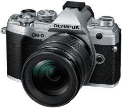 Olympus E-M5 Mark III 12-45mm Kit strieborná