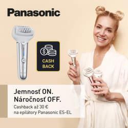 Cashback až do 30 € na epilátory Panasonic