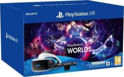 PlayStation VR v2 + kamera v2 + adaptér pre PS5 + hra VR Worlds