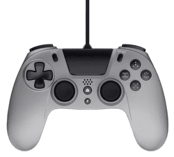 Gioteck VX4 Premium Wired Controller pre PS4/PC strieborný