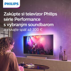 Cashback až do 300 € k nákupu TV Philips + soundbar