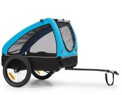 KlarfitHusky príves na bicykel pre psov modrý