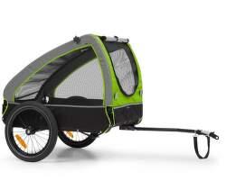 KlarfitHusky príves na bicykel pre psov zelený