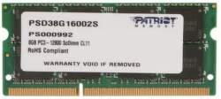 Patriot Signature Line PSD38G16002S DDR3 1x 8 GB 1600 MHz CL11 1,50 V