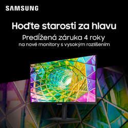 4-ročná záruka na monitory Samsung