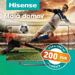 Cashback 200 € na vybrané televízory Hisense