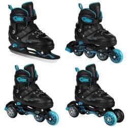 Spokey Quattro 4v1 30-33 kolieskové korčule čierno-modré