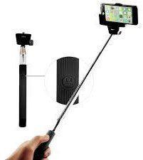Winner teleskopická selfie tyč s Bluetooth ovládačom, čierna