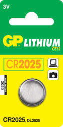 GP CR2025 1ks - lítiová gombíková batéria