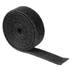 HAMA 20543 univerzálna šťahovacia páska, suchý zips, 1m, čierna