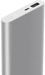 Xiaomi Mi 2 powerbanka 10 000 mAh, strieborná