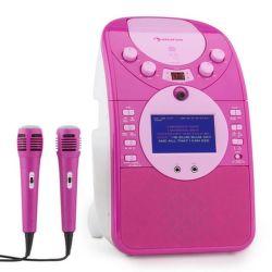 Auna ScreenStar ružový karaoke systém