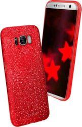 SBS Sparky Glitter puzdro pre Samsung Galaxy S8, červená