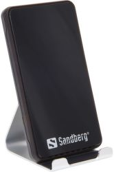 Sandberg Alu Dock 10W bezdrôtová nabíjačka, čierna