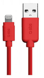 SBS Lightning kábel 1m, červená