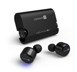 Connect IT True Wireless HYPER-BASS čierne
