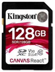 Kingston Canvas React SDXC U3 UHS-I 128 GB