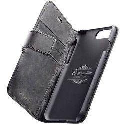 Cellular Line Supreme flipové puzdro pre iPhone 8/7, čierna