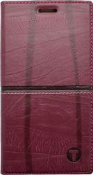 Mobilnet Luxury knižkové puzdro pre iPhone 5 a SE, červené