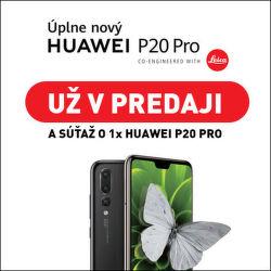 Vyhrajte nový Huawei P20 Pro
