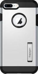 Spigen Tough Armor 2 puzdro pre Apple iPhone 7+/8+, strieborné
