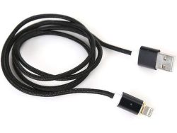 Platinet Lightning Magnetic kábel 1,2m, čierna