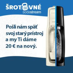 Šrotovné 20 € na výrobníky sódy SodaStream