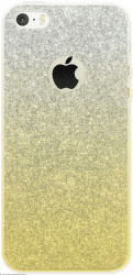 4-OK GLAM puzdro pre iPhone SE/5, zlato-striborné