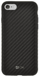 4-OK Pure Material puzdro pre Apple iPhone 6/6S carbon, čierna