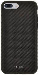 4-OK Pure Material puzdro pre Apple iPhone 7 Plus carbon, čierna