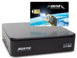 Antik Nano 3S set-top box s archívom + karta AntikSAT