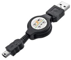 Mobilnet miniUSB kábel 1m, čierna