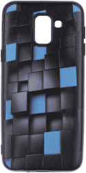 Winner 3D Cubes puzdro pre Samsung Galaxy J6 2018, čierna