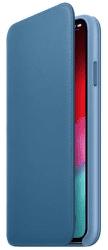 Apple kožené puzdro Folio pre Apple iPhone XS Max, modrošedá