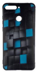 Winner 3D Cubes puzdro pre Huawei Y6 Prime 2018, čierna