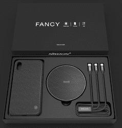 Nillkin Fancy set pre iPhone X, čierna