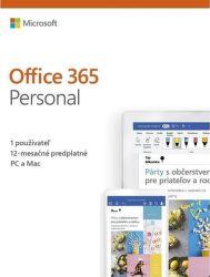 Microsoft Office 365 Personal SK (1 ROK, 1 UŽIVATEĽ, 5 ZARIADENÍ, 1TB CLOUD)