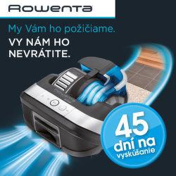 45 dní záruka vrátenia peňazí na robotické vysávače Rowenta