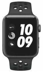 Apple Watch Series 3 Nike+ 42mm, vesmírne sivý hliník a čierny/antracitový športový remienok Nike