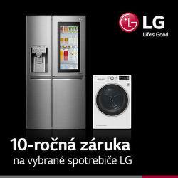 10-ročná záruka na vybrané časti spotrebičov LG