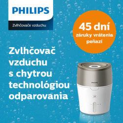 45 dní záruka vrátenia peňazí na zvlhčovače vzduchu Philips