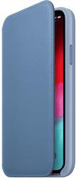 Apple kožené puzdro Folio pre Apple iPhone Xs, modré