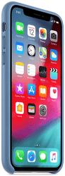Apple kožený kryt pre iPhone Xs, modrý