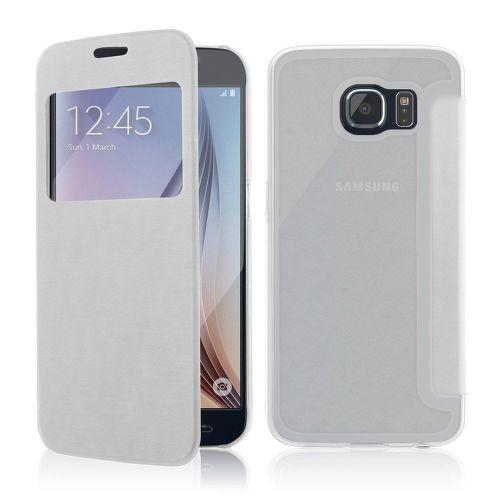 Winner Slimbook flipové púzdro pre Samsung Galaxy S6 (biele)