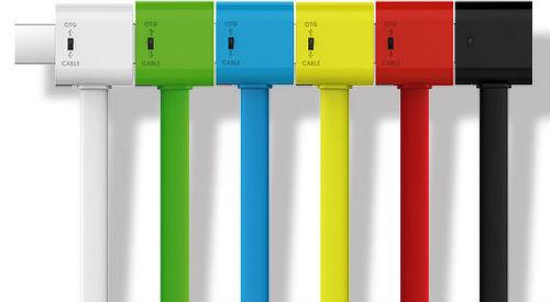 VEGA AA-1174 RAINBOW USB DATA CABLE biely