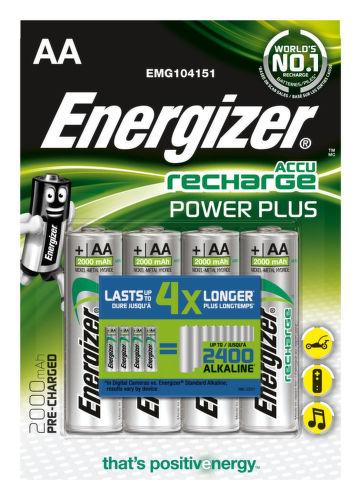 Energizer Rech Power Plus AA 2000 FSB4