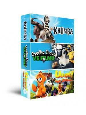 HOLLYWOOD Animáky kolekcia 2, 3x DVD fil